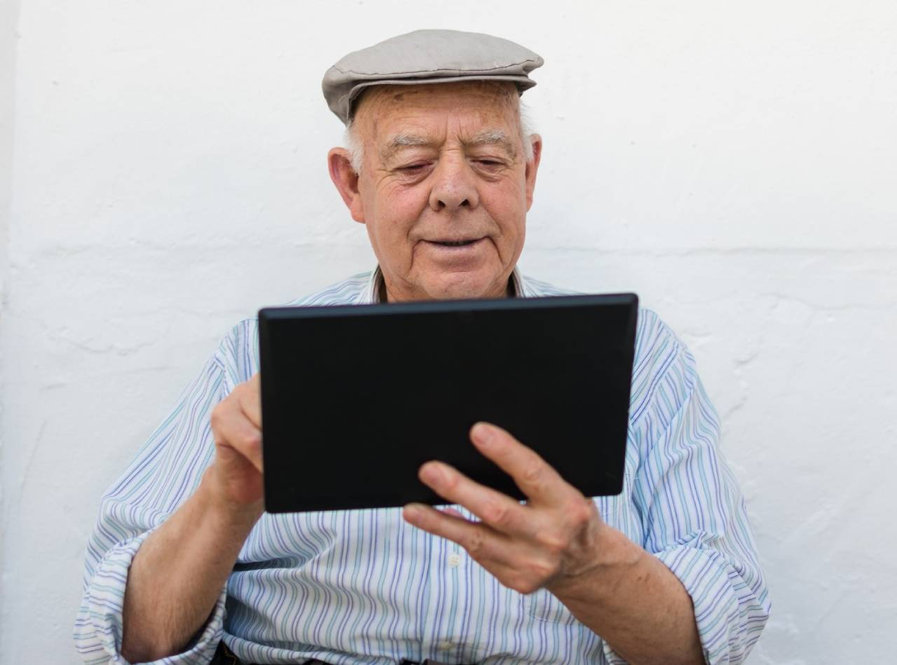 man-using-tablet