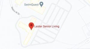 Lester senior living map image
