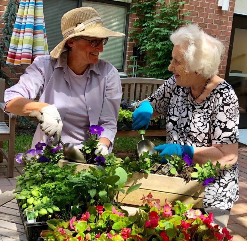 Spring gardening at Village Apartments